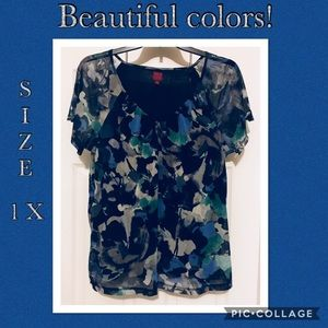 Tops - Beautiful 1X  multicolor shirt